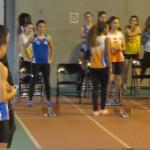 Diana en pleine concentration avant son 60m bouclé en 8''59.