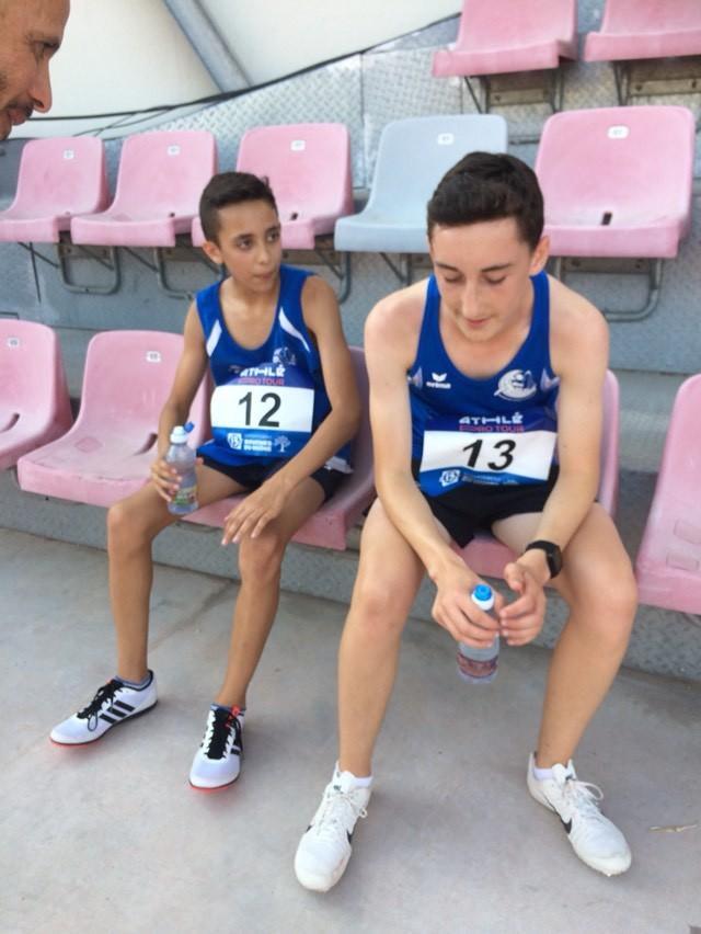 Yanis et Haron - débriefing d'après course